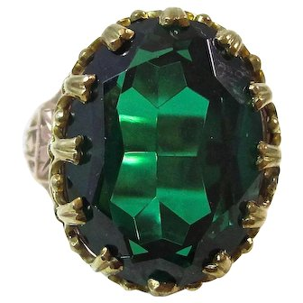 1940's Natural Spinel Estate Engagement Anniversary Birthstone Ring 14K