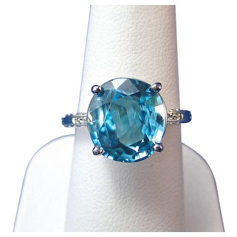 Natural Zircon 6.33 Carat Estate Engagement Wedding Birthstone 18K