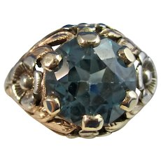 Vintage Estate 1950's Zircon Ring 14K