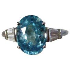 Vintage Estate Zircon Birthstone Engagement Ring