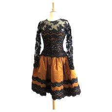 REDUCED   Oscar de La Renta Dress 1980s Couture