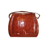 REDUCED   1950s Alligator Purse Mint Condition