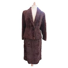 REDUCED TO MOVE  Vintage 1970s Russian Broadtail Lamb Suit