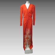 1940s Rare Designer FREDRICK GIBSON BAYH Chinese Silk Gown GUMPS San Francisco