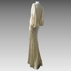1920s Art Deco Silk Satin Goddess Gown Jean Harlow Would Be Jealous! So Gorgeous!!