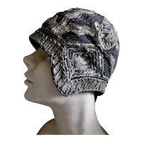 1920s Cloche Hat Flapper Metallic Decorations
