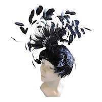 Vintage Hat Tim Crawford Fountain Of Feathers