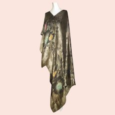 Gold Lame Shawl Art Deco 1920s