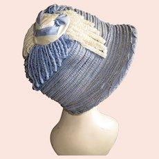 Antique 1920s Hat Cloche Flapper Silk Ribbons Art Deco