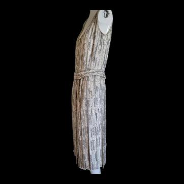 Vintage 1960s Cocktail Dress Beaded Rhinestones SEXY!!