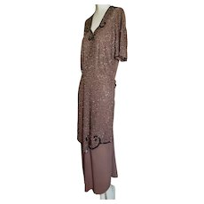 1940s Beaded Dress Over Skirt