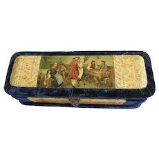 Victorian Glove Box Celluloid Print Velvet