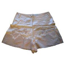 1920s Tap Pants Lingerie Satin Lace