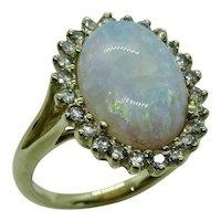Australian Opal & Diamonds 14K Ring
