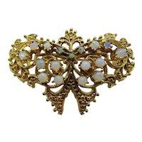 14K Opals Pendant Butterfly Brooch