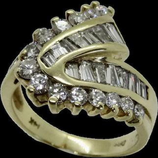 Diamond Diamond Ring Bypass Swirl VS, G-H