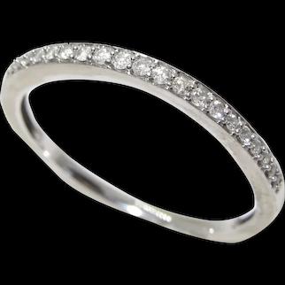 Vintage 10K Half Hoop Diamond Ring