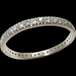 Antique 1920s 14K Diamonds Eternity Band