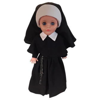 Nun Doll Sister of Charity of Nazareth Convent-Dressed