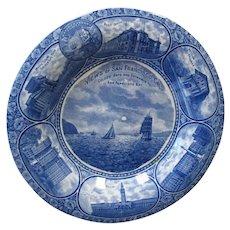 Vintage San Francisco Souvenir Plate - Rowland & Marsellus Co.