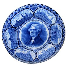 Vintage Thomas Jefferson Souvenir Plate - St. Louis World's Fair