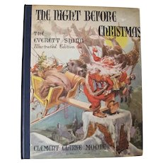 Vintage Illustrated The Night Before Christmas - Clement Clarke Moore