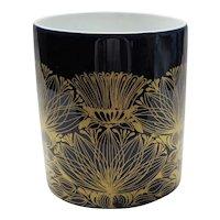 Rosenthal Studio Linie Cobalt Vase w/ Gilt Thistles - Bjorn Wiinblad