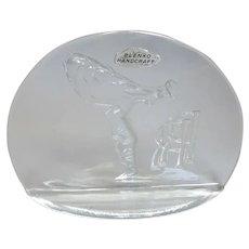 Blenko Glass Co. Display Plaque - Rolls Royce & Spirit of Ecstasy