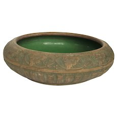 1930s Red Wing Union Stoneware Bowl - Narcissus