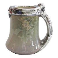 c. 1905 Rookwood Vellum Mug w/ Silver - Comm. Club of Cincinnati - Sara Sax