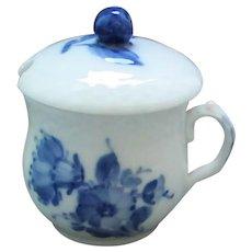 """Royal Copenhagen """"Blue Flower"""" Mustard Jar"""