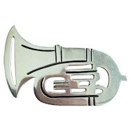 Sterling Silver .925 Horn Pin - Mexico