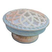 Worcester Royal Porcelain Reticulated Lid Potpourri Bowl