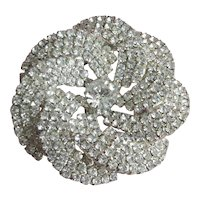 Lovely Vintage Rhinestone Pinwheel Pin Brooch