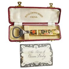 "Royal Crown Derby China ""Old Imari"" Bottle Opener in Orig. Box"