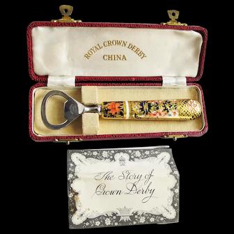 "Royal Crown Derby China ""Old Imari"" Bottle Opener in Orig. Box"