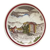 Vintage San Juan Capistrano, California Mission Souvenir Plate
