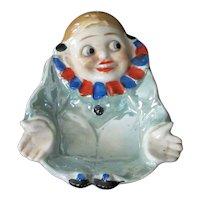 Vintage Clown Pierrot Deco Lusterware Pin Tray or Ashtray