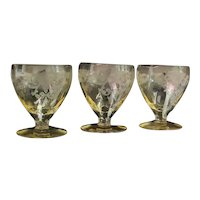 """Heisey Sahara """"Old Colony"""" Oyster Cocktail Glasses (3)"""