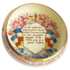 Vintage Paragon Commemorative Motto Dish - Patriotic Series - War of Britain