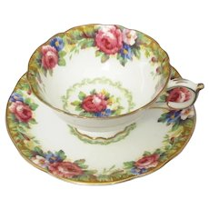Paragon England Double Warrant Mark - Cup & Saucer - Tapestry Rose