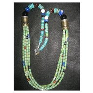Turquoise Sterling Four Strand Singer Necklace