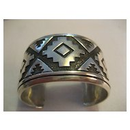 Sterling Silver Wide Overlay Cuff