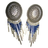 Sterling Silver & Lapis Vintage Earrings