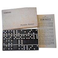 Backgammon Bakelite Domino Vintage Set