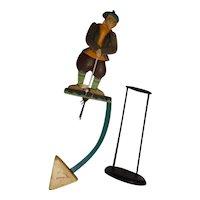 """Golfer 22"""" Metal Teeter Totter Balance Toy"""
