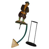 "Golfer 22"" Sky Hook Tin Metal Teeter Totter Balance Toy"