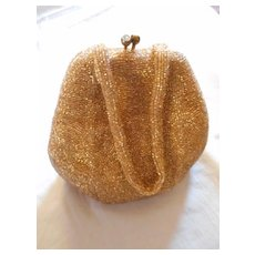 Walborg Gold Beaded Vintage Evening Bag