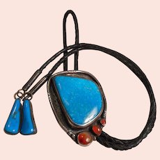 Sterling Silver Turquoise Vintage Bolo Tie