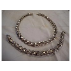 Sterling Silver Heart Necklace & Bracelet Set